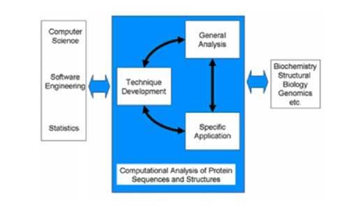 Skema pengolahan data pada ilmu Bioinformatika